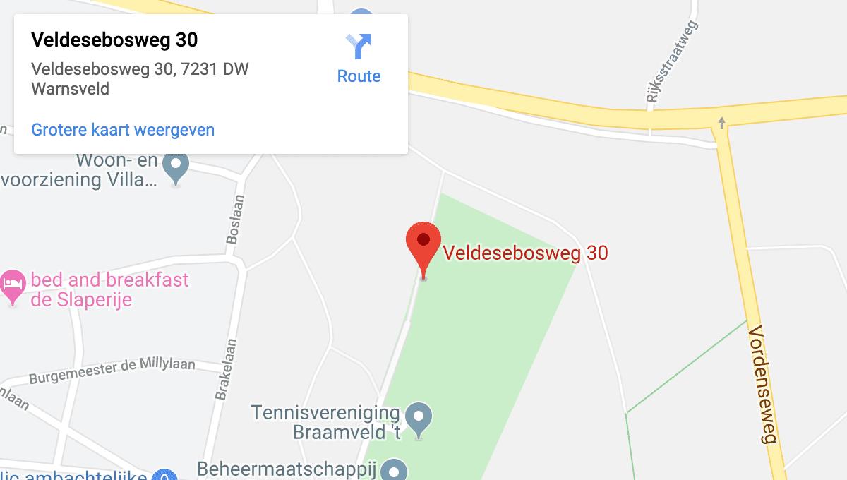 Warnsveldse Boys op Google Maps
